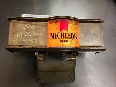 Vintage Michelob Lighted Bar Sign With Attached Metal Clamps 304-120 Works