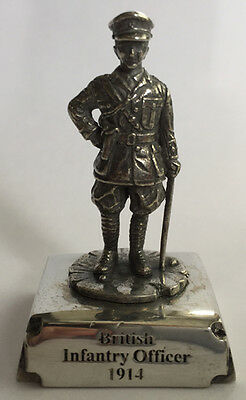 WW1 British Army Infantry Officer,  Military Miniature in Fine Pewter