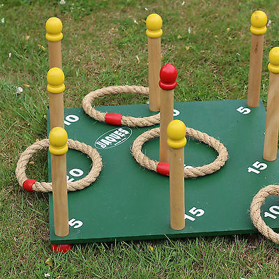 Nine Pin Quoits Hoopla Throwing Game for the Outdoors