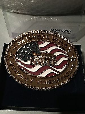 NWTF One of a Kind Montana Silversmiths Belt Buckle * Made in U.S.A.