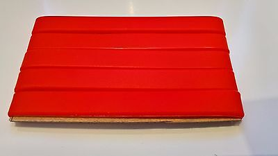 Silicone Wristband Pack Of 5 Plain RED Adult 202mm