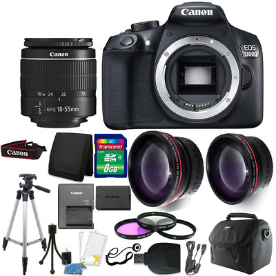 Canon EOS 1300D/T6 18MP DSLR Camera + 18-55mm Lens + Accessory Kit