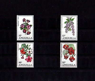 Anguilla - 1970 - Flowers - Hibiscus - Morning Glory ++ Mint - Mnh - Set!