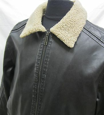 WHISPERING SMITH FAUX LEATHER BLACK JACKET SIZE L mens 543