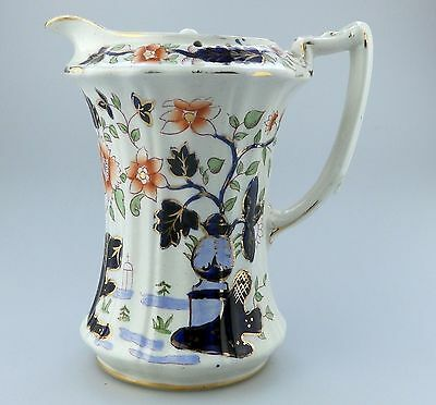 Antique English Pottery : A Gaudy Welsh Water / Chocolate Pot C.1912+