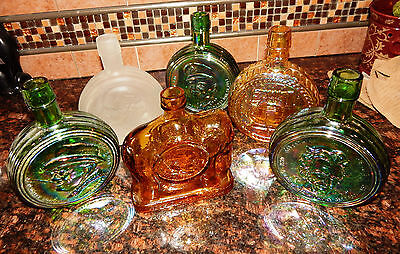 Lot of 6 Wheaton First Edition Presidential Commemorative Bottles+ Spirit of '76