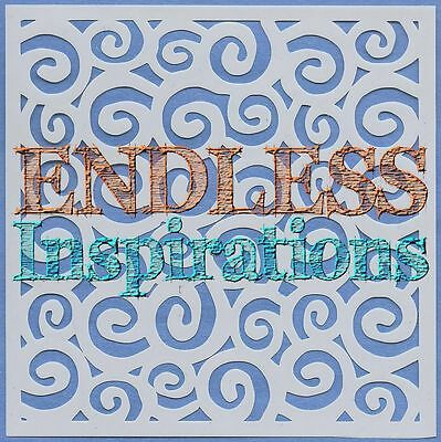 """Free US Shipping 6/""""x6/""""Endless Inspirations Stencil Snowman"""