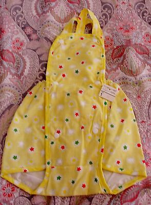 NWT Vintage LILY KIDS Yellow RUBBER Plastic Pant DIAPER Cover Romper NOS Twins