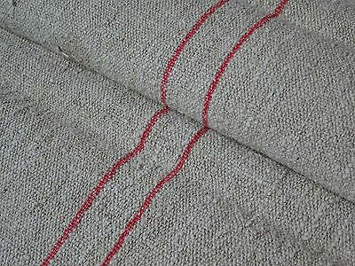 Antique European Feed Sack GRAIN SACK Red Stripe # 8728