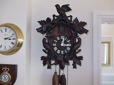 Large Antique Cuckoo Clock (c1920)...with flapping wings!!