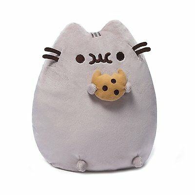 10.5 Inch Gund Cookie Pusheen Plush Cat Grey Tabby Kitty Stuffed Toy