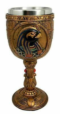 Urban Ancient Egyptian God Of The Sky Horus 6oz Resin Wine Goblet Chalice Cup