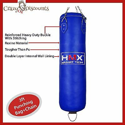 3Ft Punching Bag Boxing Martial Art Kick Box Mma Training Sparring Swivel Chain