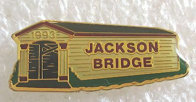 Jackson Covered Bridge Tourist Travel Souvenir Collector Pin-Rockport, Indiana