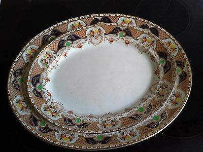 Lovely Pair Of Platters  Made By Burgess Bros Of England