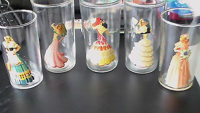 5 Vintage 1940s Peek A Boo Bar Glasses Nude Pin Up Pinup Girls Drink