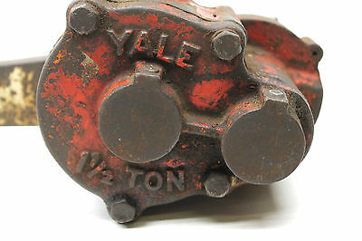 Yale Hand Lever Chain Hoist 1 1/2 Ton Pul-Lift Ratchet Lever Come Along Made USA