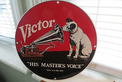His Master's Voice,Victor enamal sign by Runkel Brothers,nostalgia advertising