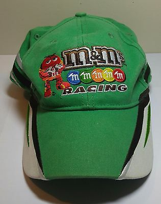M&M's Kyle Busch #18 Nascar Racing Green Hat Adult Adjustable