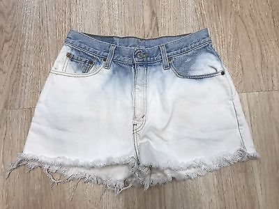 Vintage Levi's 550 CutOff Shorts High Waist Women's Size 10 Bleach Acid Wash
