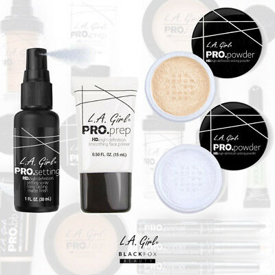 L.A. Girl PRO. Prep HD Smoothing Face Primer, Setting Powder, Setting Spray PICK