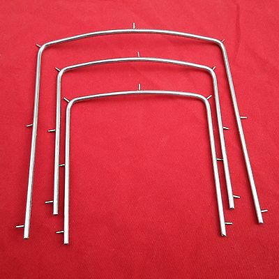 New 3 Pcs Stainless Steel Rubber Dam Frames S-M-L Dental Instruments Free Ship