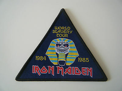 IRON MAIDEN PATCH World Slavery Tour 84-85 Powerslave Live After Death Badge NEW