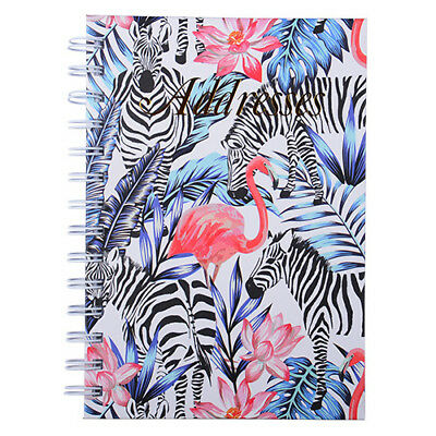 Cumberland Address Book 190 x 130mm Spiral - Flamingo Zebra 72 Leaf
