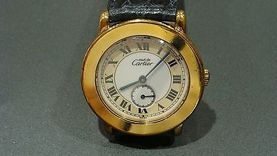 Cartier Must De Cartier Ronde Ref 1810 Gold Plated Over Silver