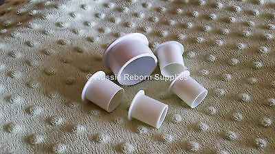 Reborn Baby Plugs Pkt of 5 - 16, 20, 24, 27, 30, 35, or 40mm Doll Supplies
