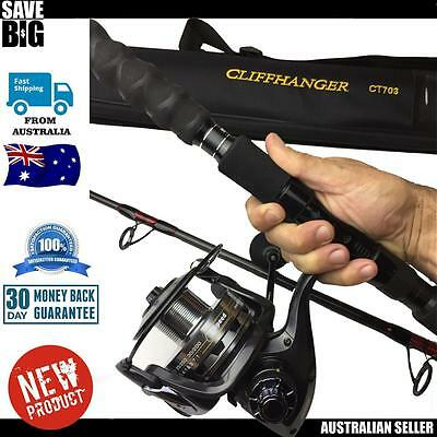 fishing Sabre spin reel and Henoy rod offshore boat jig combo 25kg 2.1m spapper