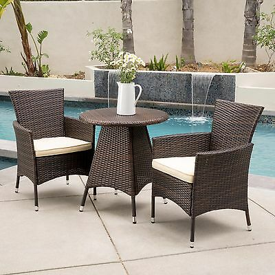 new 4 pc brwn wicker outdoor patio dining table chair bench set rh picclick com Table and Bench Set Dining Room Table Sets with Bench