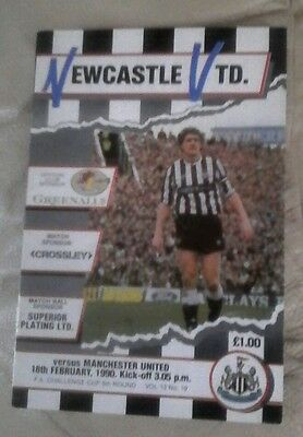 Manchester united v Newcastle utd away 1989/90 season very good condition