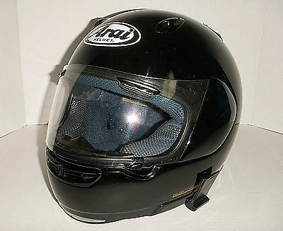 Arai Quantum F Black Full Face Vented Street Racing Motorcycle Helmet Snell Xl