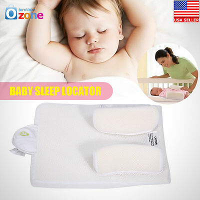 Baby Infant Sleep Positioner Anti Roll Pillow Prevent Flat Head Bed Cushion New