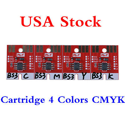 USA Stock-Chip Permanent for Mimaki JV33 BS3 Cartridge 4 Colors CMYK