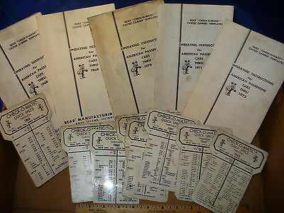 Vtg. Lot BEAR Camber Caster Check-O-Matic Alignment Templates  Manuals 1963-1972