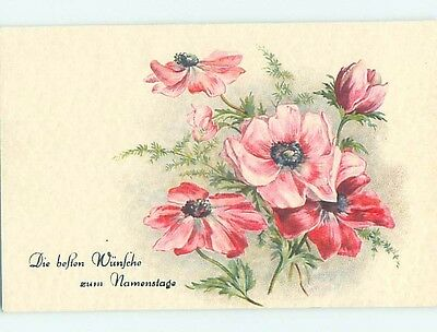 Pre-Linen foreign BEAUTIFUL PINK FLOWERS HL7439