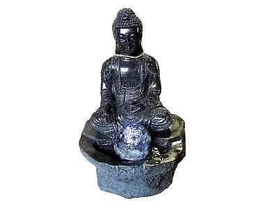 Small Black Buddha with Ball Water Feature
