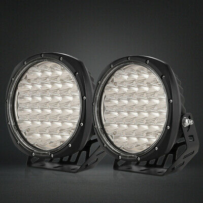 98000W 7inch LED Cree Black Driving Lights Round Spotlights Offroad 4x4 4WD HID