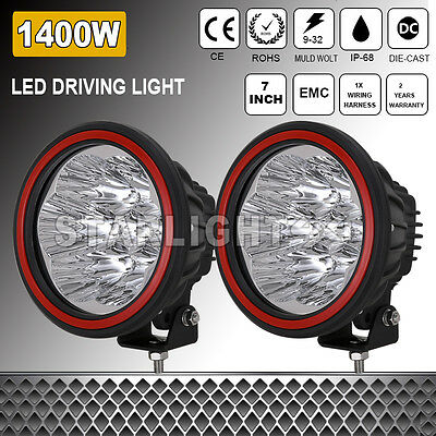 7''1400W NEW HID Cree LED Work Driving Light Spot light Offroad4x4 Round ATV SUV