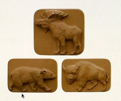 Animals - Moose, Buffalo & Bear- Soap Molds/Moulds - Milky Way