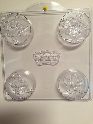Alice in Wonderland Milky Way Soap Mold. 4 cavities. 2 of Rabbit 2 of Alice