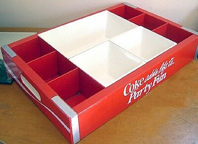 "Rare Vintage Coca Cola New ""coke Adds Life To Party Fun"" Dip And Serving Tray"