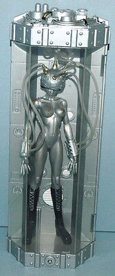RARE   FEWTURE TOLLG Symbiotic DEVILMAN SILVER  ACTION FIGURE in LIGHTED CASE • $19.99