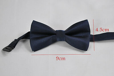New Boy Kids 100% Polyester Navy Blue Bow Tie Bowtie Wedding Party 1-6 Years Old