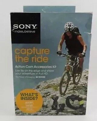 NEW Sony Capture the Ride Action Camera Bike /Head Mount Accessories Kit Bundle