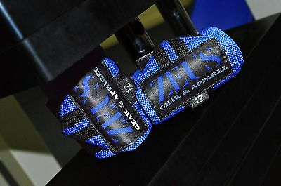 ZEUS Gear Apparel Wrist Wraps Blue, Weightlifting, Crossfit and gym support
