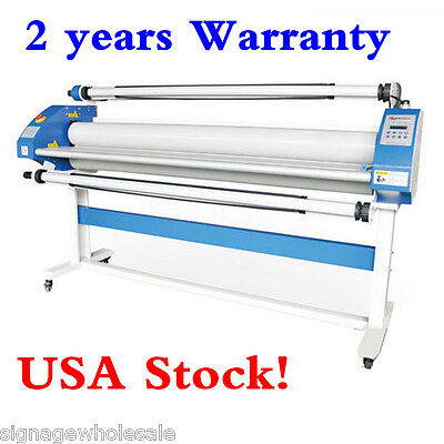 "USA Stock!! 110V 63"" Economical Pnenumatic low-temp Wide Format Cold Laminator"