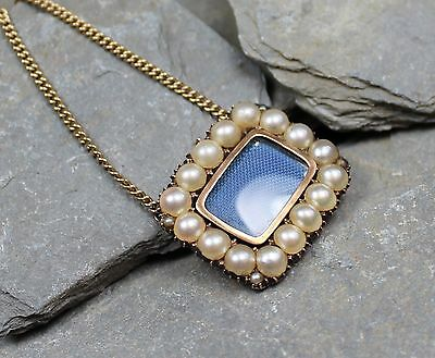 Stunning Georgian Gold & Pearl Locket & Necklace